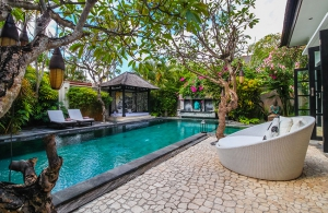 The Residence Seminyak - Villa Senang - Pool and bale