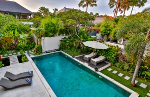 The Residence Seminyak - Villa Shanti - Swimming pool view from upstair