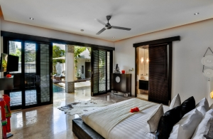The Residence Seminyak - Villa Amala - Bedroom one view to pool
