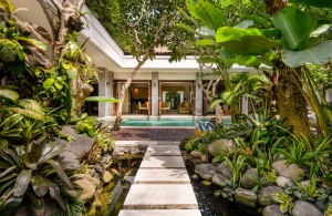 The Residence Seminyak - Villa Siam - Fish pond path
